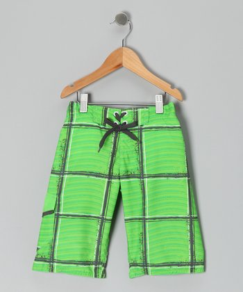 Green Flash Wave Rider Boardshorts