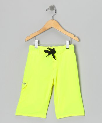 Highlighter Yellow Bright Idea Boardshorts