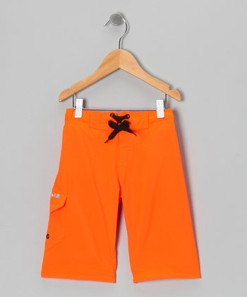 Orange Bright Idea Boardshorts