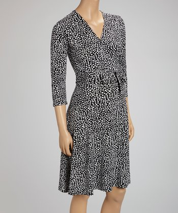 Pebble Black Perfect Maternity Wrap Dress