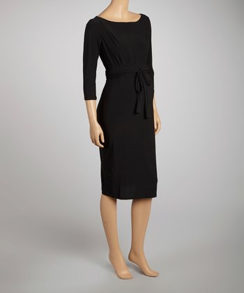 Black Scarf Maternity Dress