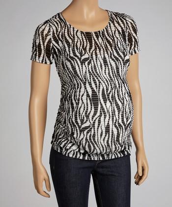 Mom & Co. Zebra Maternity Short-Sleeve Top - Women