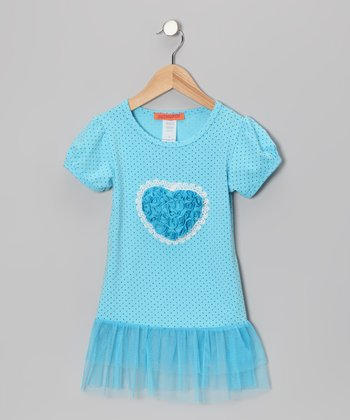 Blue Heart Tutu Tunic - Toddler & Girls