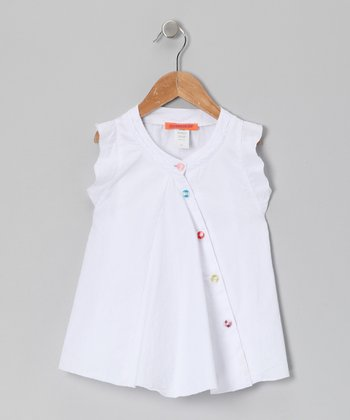 White Button Tunic - Toddler