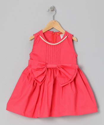 Coral Bow Pearl Tunic - Girls