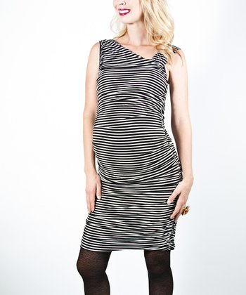 Black & White Mireille Maternity Dress