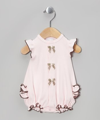 Too Sweet Pink & Brown Bubble Bodysuit - Infant