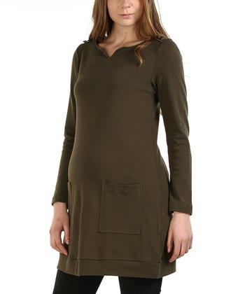 Olive Autumn Maternity Tunic