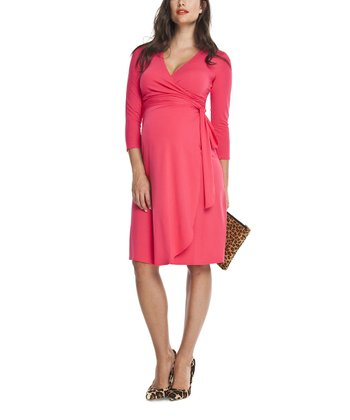 Pink Rose Wrap Dress