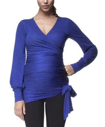Cobalt Blue Maternity Surplice Top