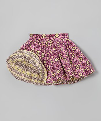 Orange & Purple Reversible Circle Skirt - Infant, Toddler & Girls