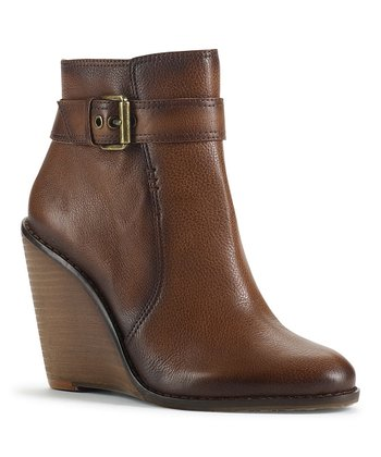 Dark Pecan Patrizio Wedge Bootie