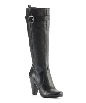 Black Selina Buckle Boot
