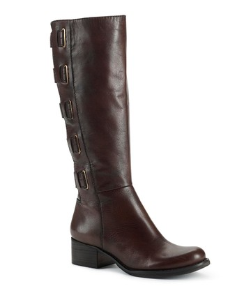 Dark Chocolate Leather Skylar Boot