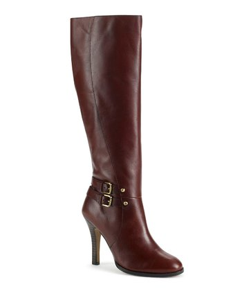 Cognac Leather Umbria Buckle Boot
