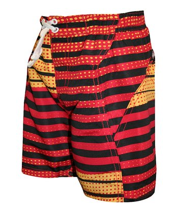 Red Stripe Boardshorts - Toddler
