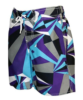 Purple Abstract Boardshorts - Toddler & Boys