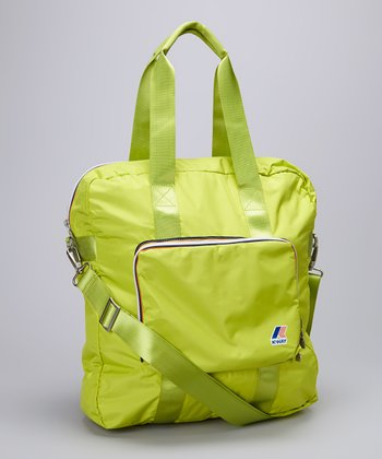 Acid Green Folding Shopper