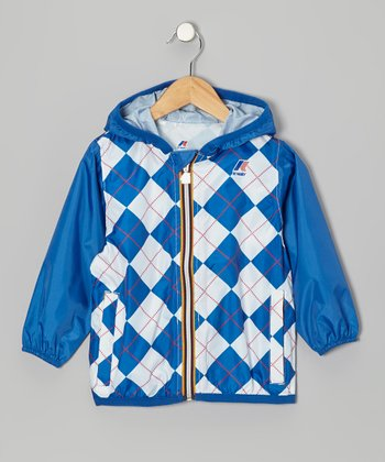 Blue Argyle Rain Jacket - Infant, Toddler & Kids