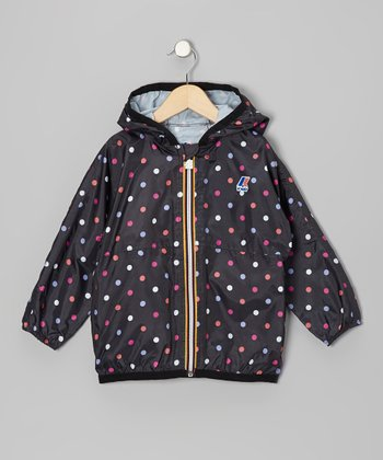 Black Polka Dot Rain Jacket - Infant, Toddler & Kids