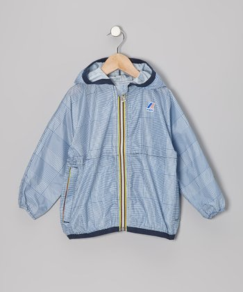 Blue Plaid Rain Jacket - Infant, Toddler & Kids