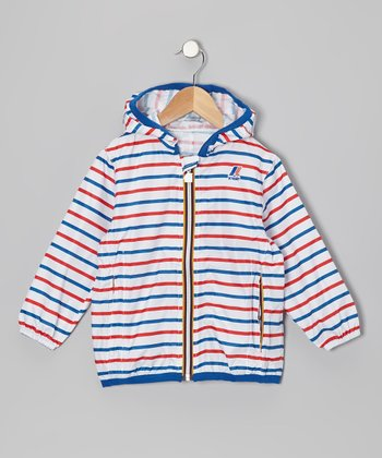 Red Stripe Rain Jacket - Infant, Toddler & Girls