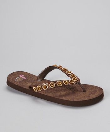 Brown & Topaz Stace Flip-Flop - Women