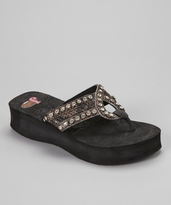 Black Riley Platform Flip-Flop - Women