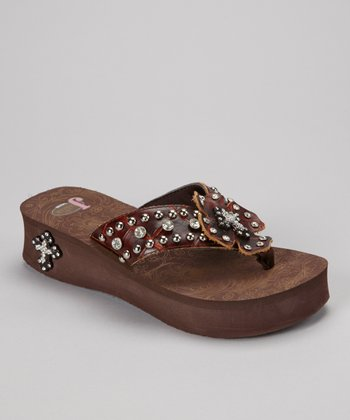 Brown Marley Platform Flip-Flop - Women