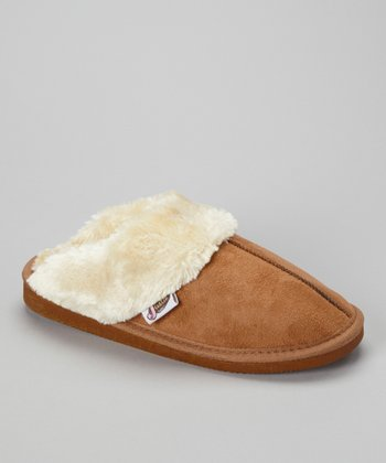 Tan Mule Slipper - Women