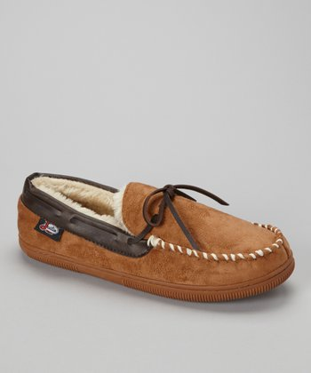 Tan Moccasin Slipper - Men