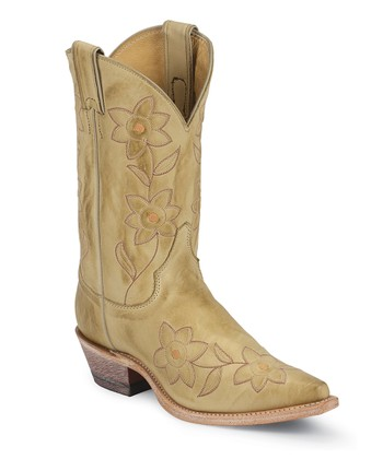 Tan Bone Deertanned Cowboy Boot - Women