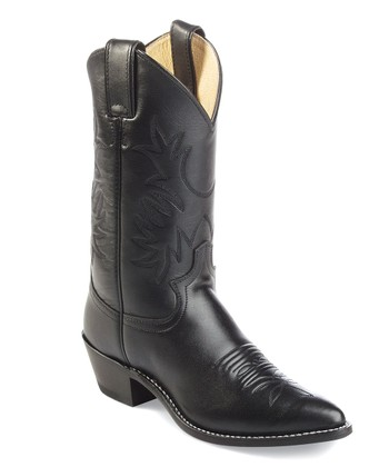 Black London Calf Cowboy Boot - Women