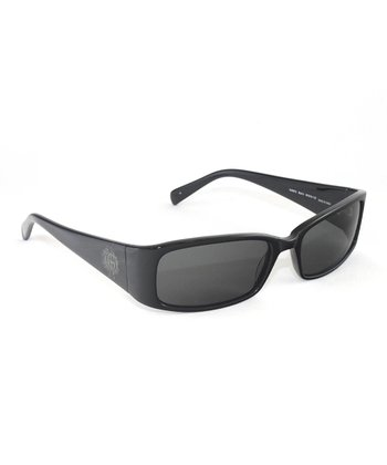 Black Slim Seal Sunglasses - Women
