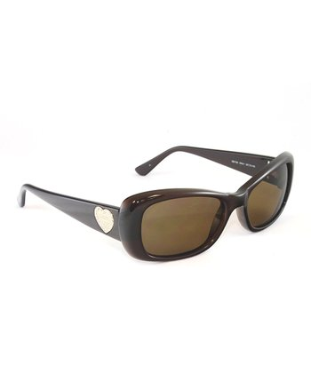 Brown Heart Mod Sunglasses - Women