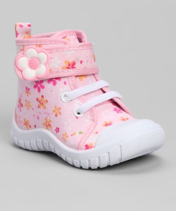 Light Pink Flash Floral Hi-Top Sneaker