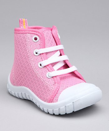 Pink Flash Hi-Top Sneaker