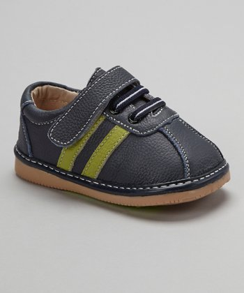 Navy & Green Stripe Shoe
