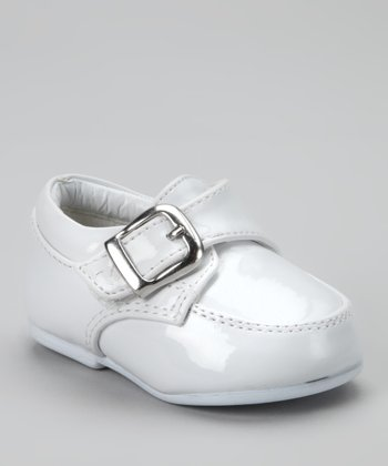 White Buckle Tutu Dress Shoe - Boys