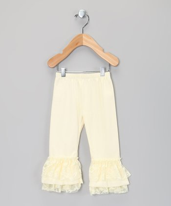 Ivory Ruffle Bell Pants - Infant, Toddler & Girls