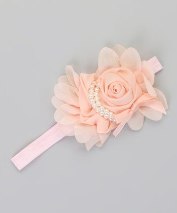 Blush Pearl Flower Headband