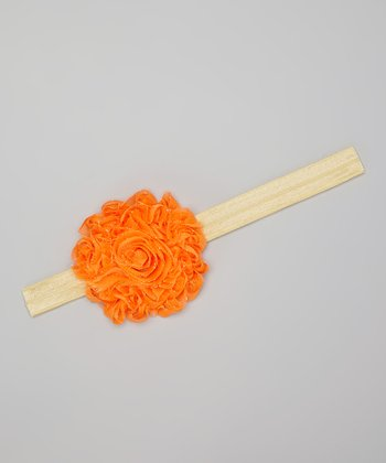 Orange Dandelion Headband