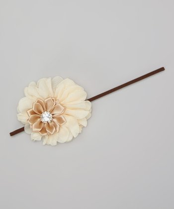 Ivory Layered Flower Headband