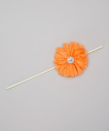 Bright Orange Blossom Headband