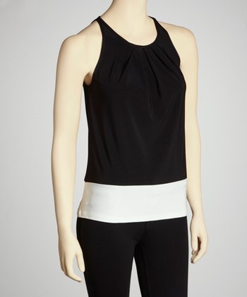 Black & White Color Block Sleeveless Top