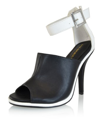 Black Joan Peep-Toe Pump