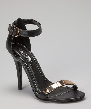 Black & Gold Reggie Sandal