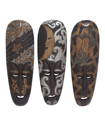African Mask Wall Art Set
