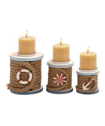 Rope Candleholder Set
