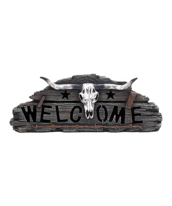 Longhorn Skull 'Welcome' Wall Art